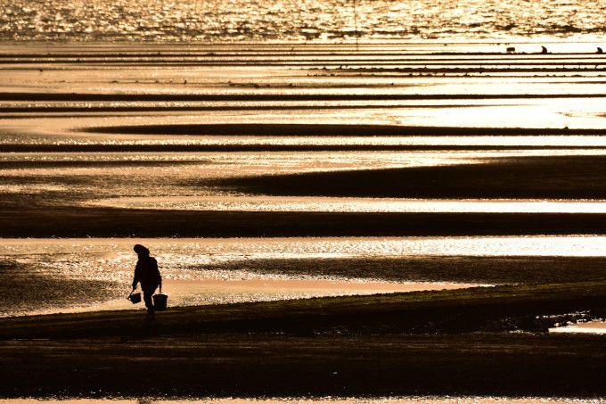 有明海の遠浅の撮影方法