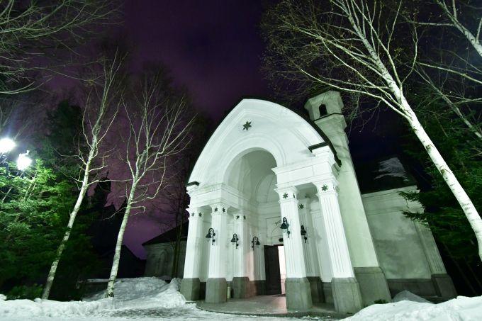 雪の街の名所「雪の美術館」