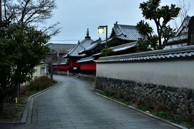 寺町の歴史的街並み