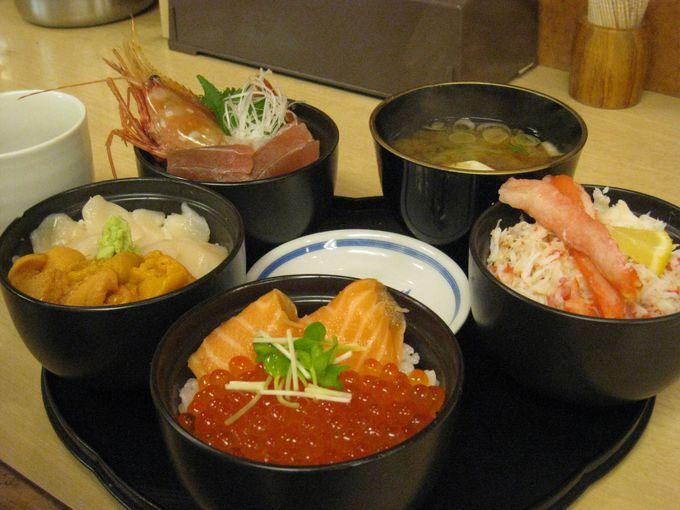 二条市場内「どんぶり茶屋」で圧巻の丸鮮丼!!