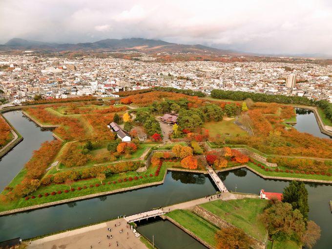 五稜郭タワーから眺める紅葉もオススメ!