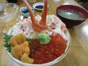 SLニセコ号で行く小樽!穴場グルメ、三角市場で豪快な海鮮丼に舌鼓!