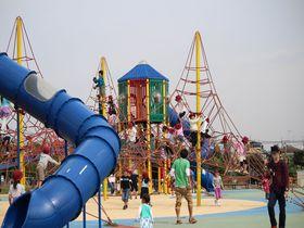 行かなきゃ損&無料で遊べる!神奈川「大和ゆとりの森」ふわふわドームで子供は大喜び