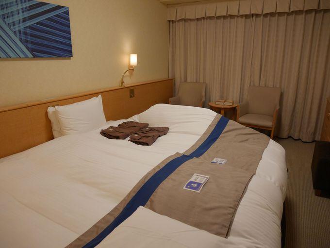 オススメの理由その1「ベッドは全室ハリウッドツイン」