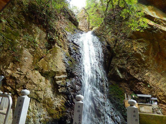 最明寺滝と不動明王