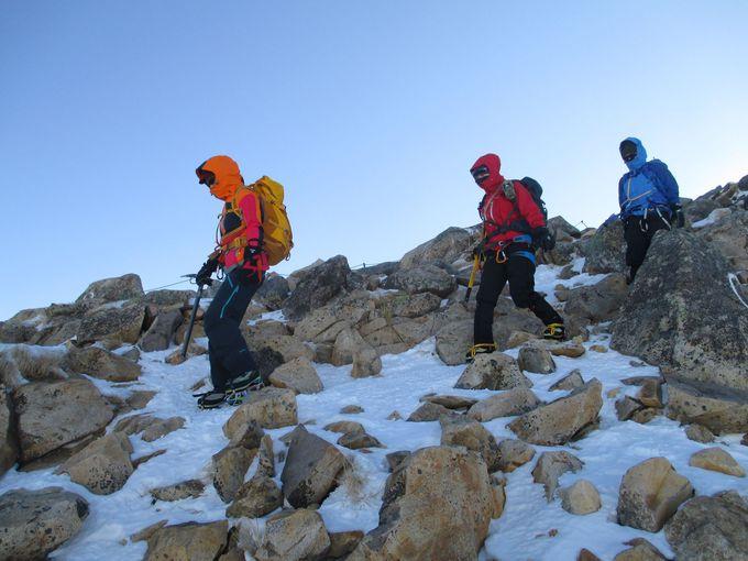 雪山登山に必要な、三種の神器