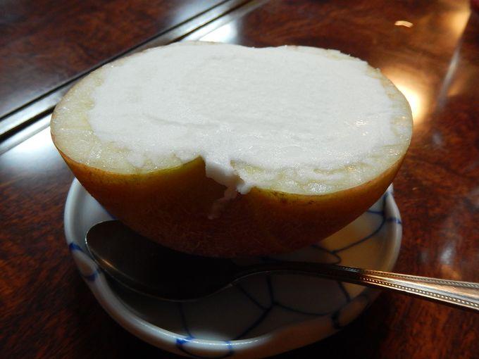 しし鍋に、唐揚げに、りんごアイス