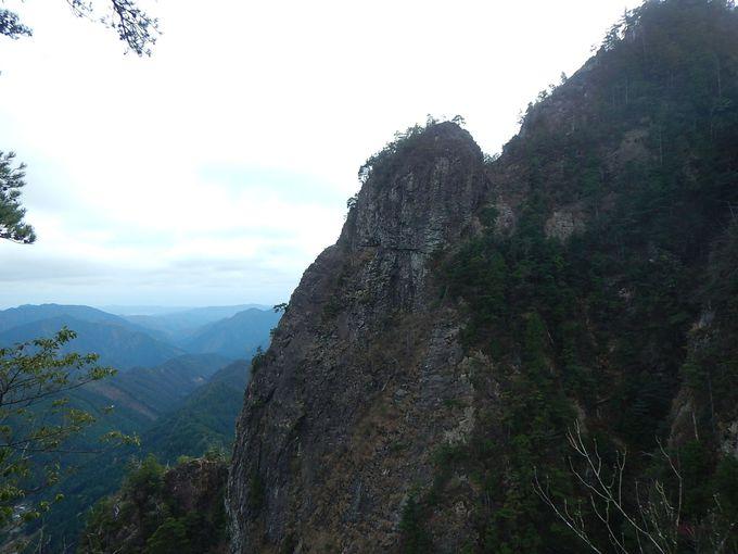 天狗岩から地蔵岳へは、上級コース