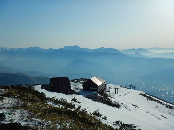 美しい白馬三山を眺めながら