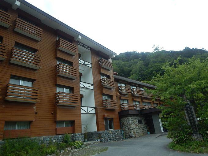 上高地温泉ホテルで露天風呂