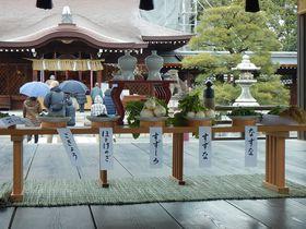 京都・城南宮の七草粥の若菜パワーをいただいて今年も無病息災!