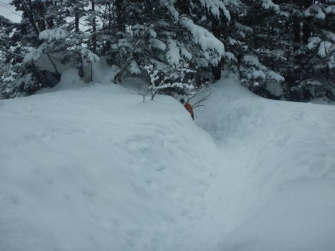 「雪の回廊」はワクワクの迷路?