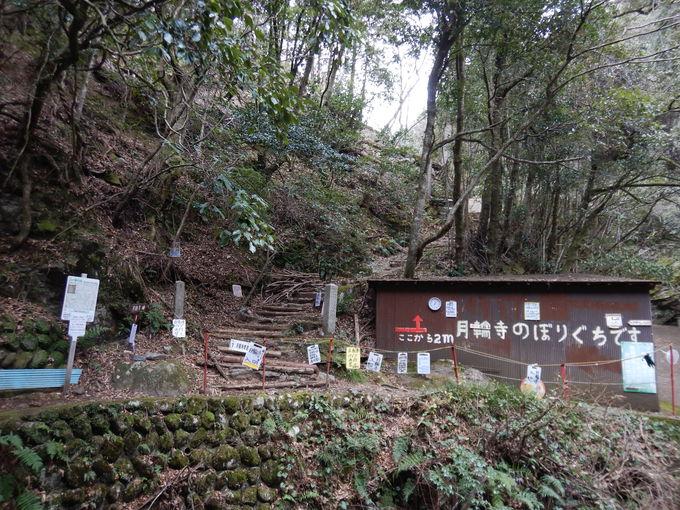下山は静かな「月輪寺コース」