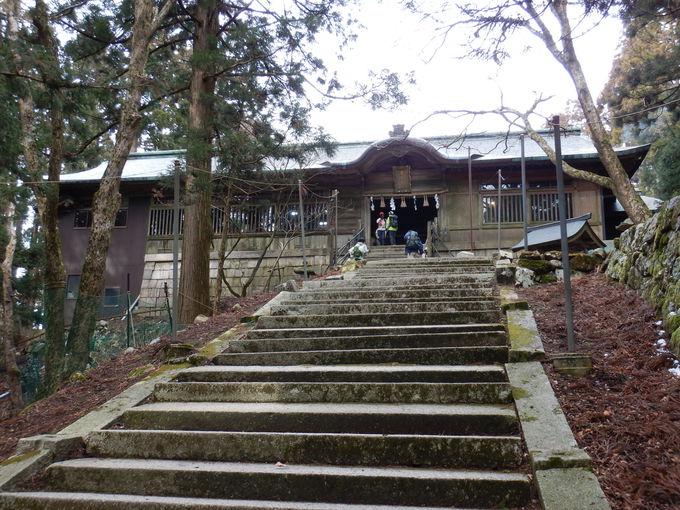 急階段を登り切って…