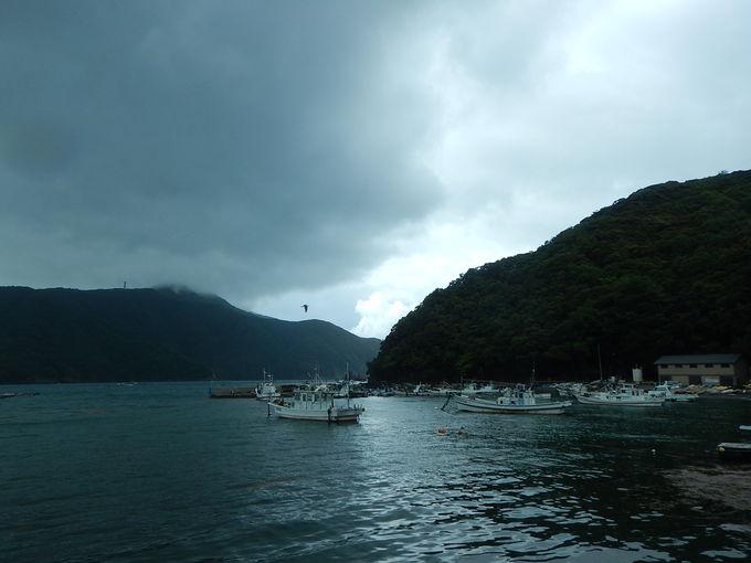 漁師民宿の多い西小川の「なかじま」へ