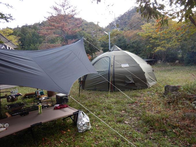 「虹岳島温泉・屋形船キャンプ場」へGO