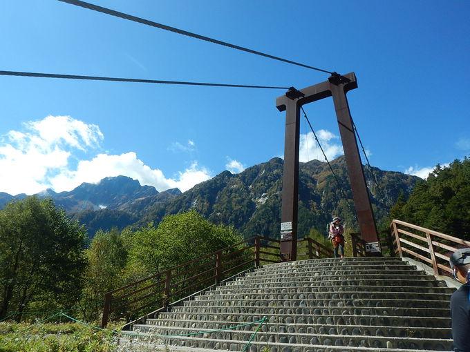 登山者以外入山禁止の橋の向こう