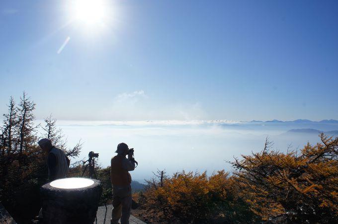 展望台で見られる足元から広がる雲海