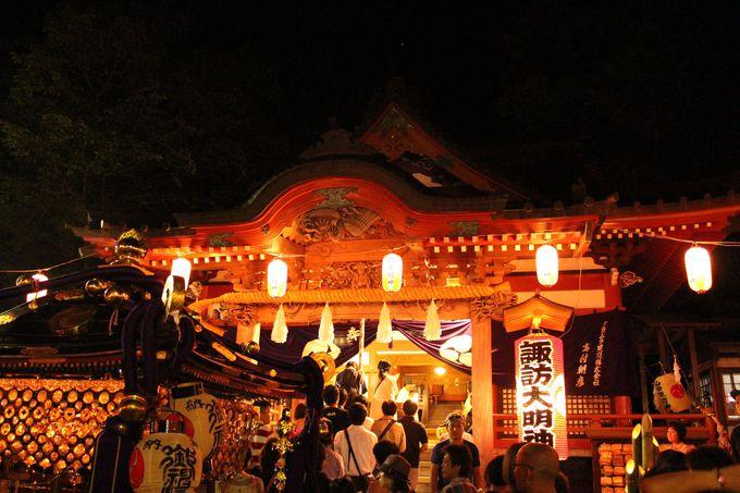 3日間行われる山中諏訪神社の例大祭