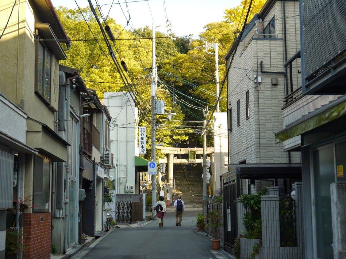 夕日の名所!四天王寺の西北に位置する「大江神社」に行ってみよう♪