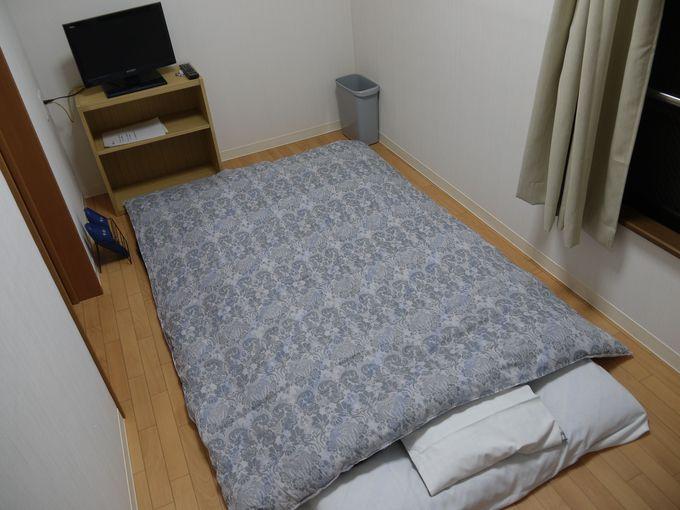 宿で寝るだけなら十分満足できます!