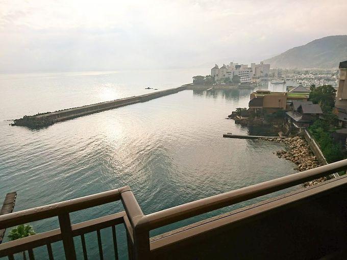 部屋から見える海景色は最高に心地よい!
