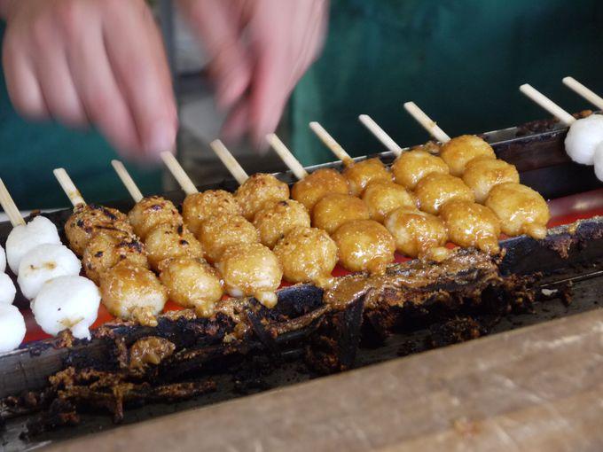犬山の城下町名物!「五平餅」&「恋小町だんご」