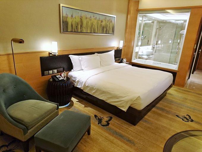 さすがは5つ星ホテル!広々とした部屋は快適で優雅