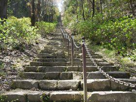 まるで天に向かう石段!大津皇子の眠る二上山の麓で奈良の古を想う