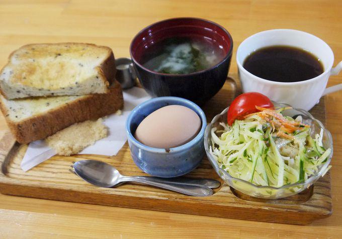 えっ!朝食モーニングはトーストに味噌汁?