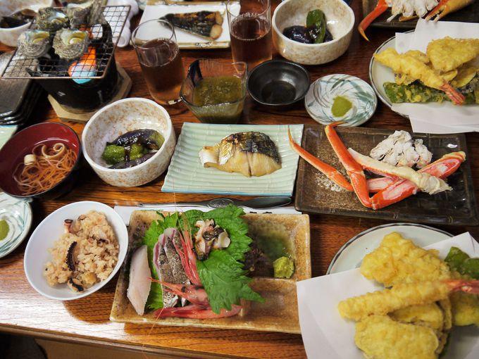 食事は地元の素材を中心で美味しく、タコ飯は最高!