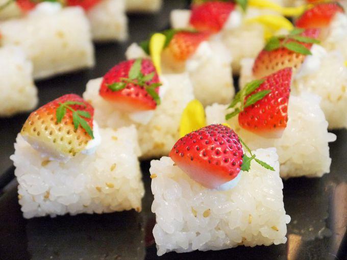 びっくり!苺のお寿司もあります