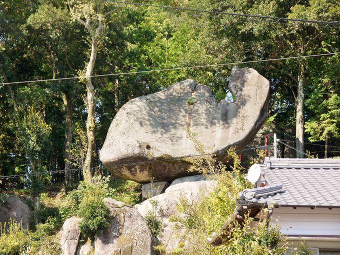 巨大な岩に思わず「ギョギョ!」