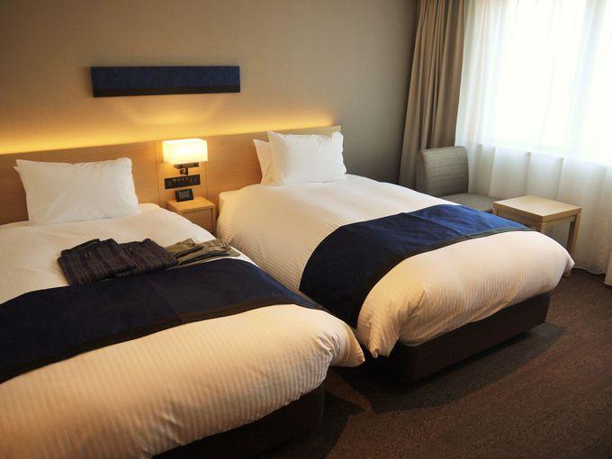 旅の疲れを残さない!最高の居心地と快眠できる客室