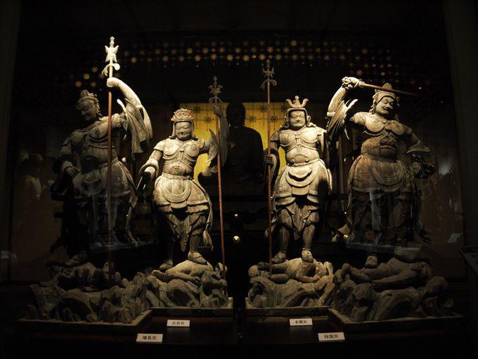四体揃って見られるのは珍しい!平安時代の四天王立像