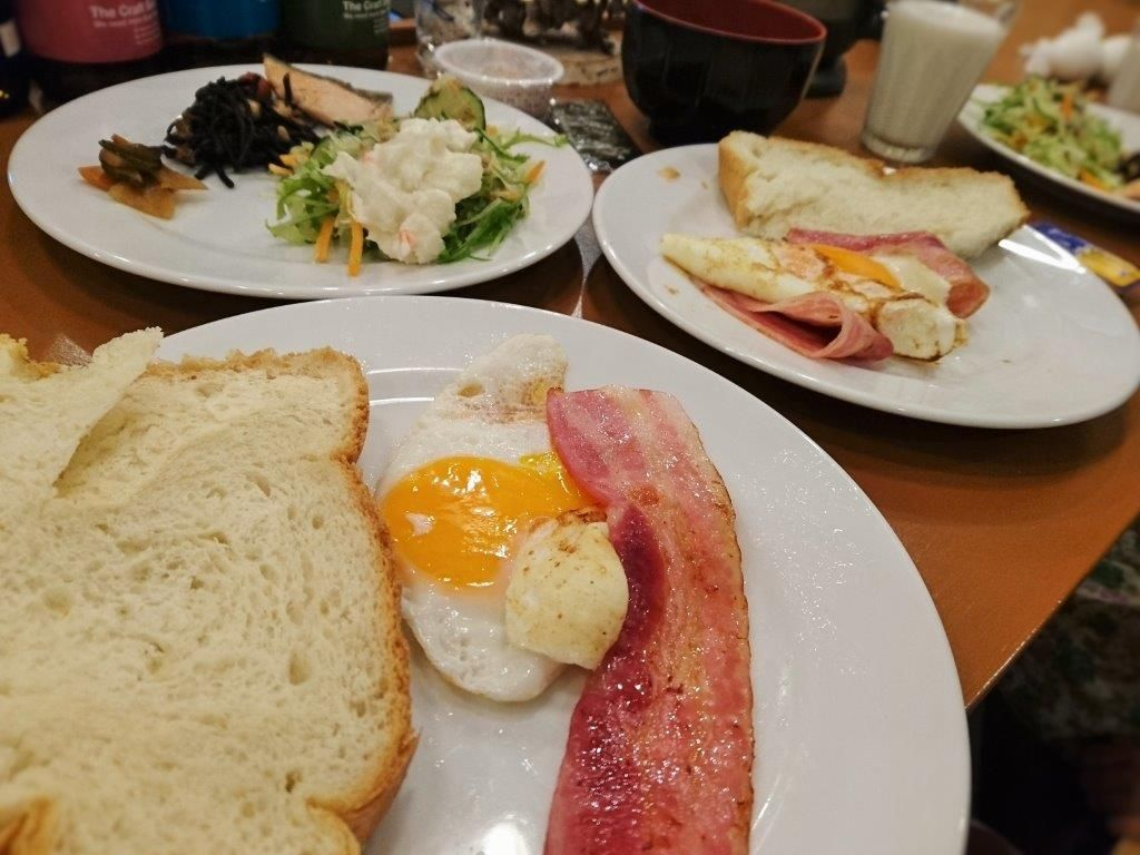 簡単に作れる!セルフサービスの朝食