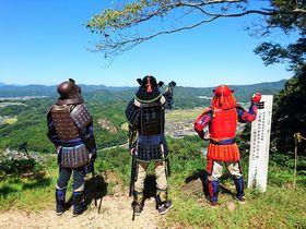 岐阜・美濃金山城跡で戦国武将体験!好きな甲冑で山城を攻め上がれ