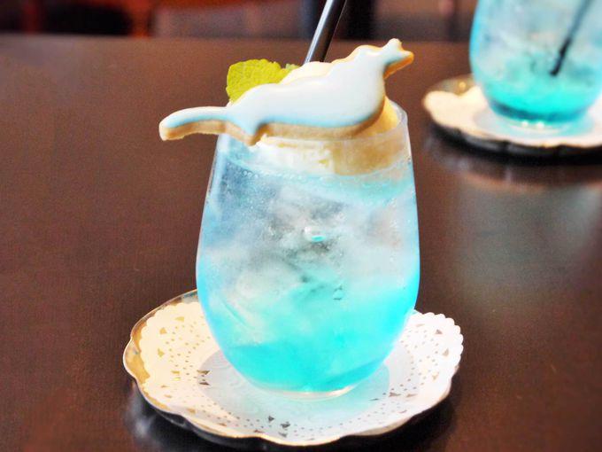 魅惑のびわ湖ブルー!絶品びわこクリームソーダ