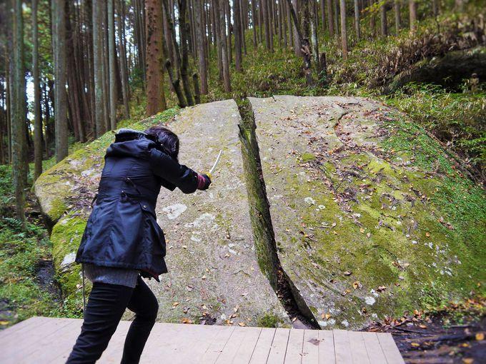 名シーンを再現!「柳生一刀石」/奈良県