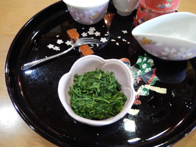 〆はお茶の佃煮
