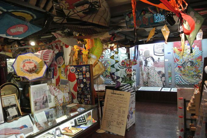 凧の博物館は、凧のオンパレード!