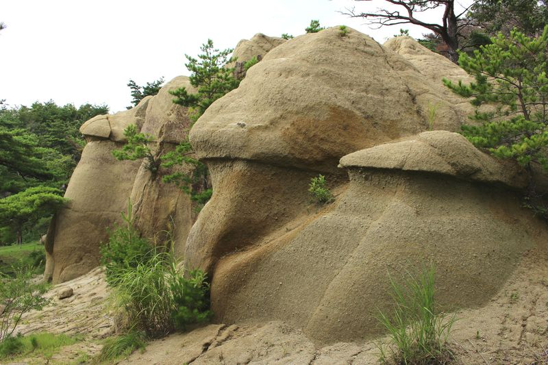 そして姿を現す「きのこ岩」!