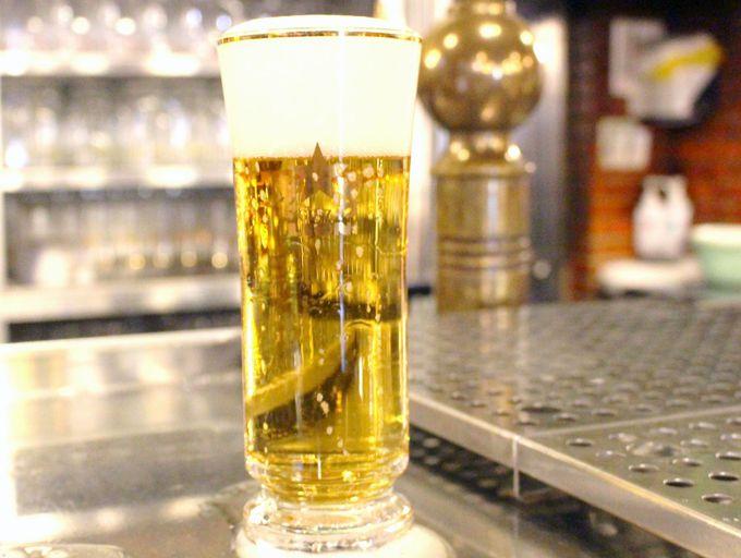 ビールはこだわりの1度注ぎ!