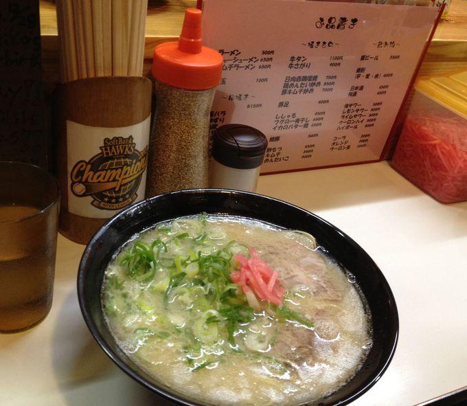9.「長浜ラーメン」屋台で食べたい