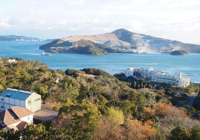 鳥羽湾、菅島を眺める