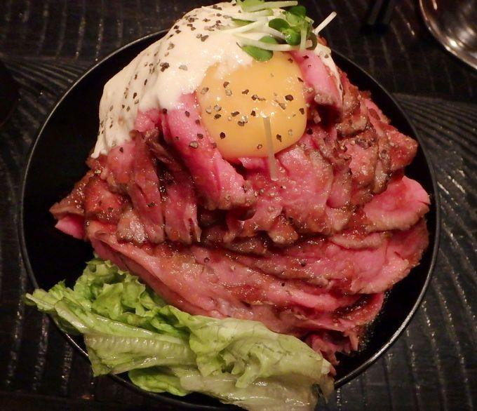一番人気の「ローストビーフ丼」!