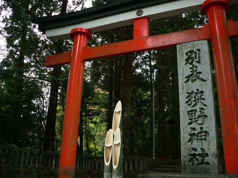 長い参道はまさしくパワーロード狭野神社