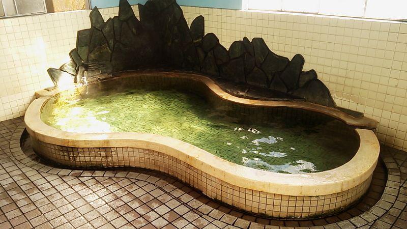 ひょうたん型の浴槽と温泉名に萌え「おとめがわ温泉」
