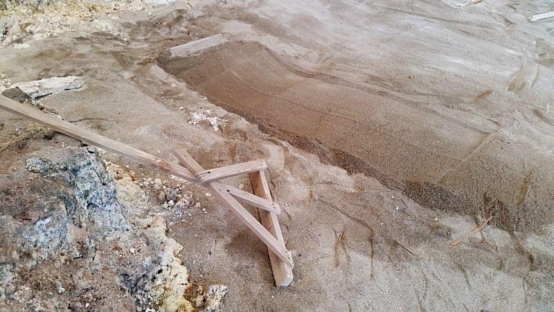 セルフ砂蒸し温泉でゆっくりと