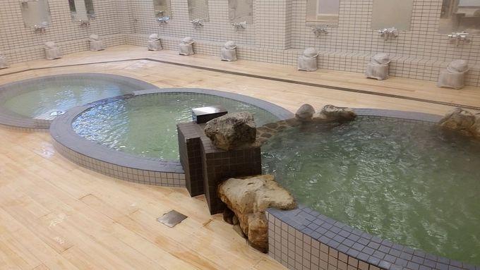 鹿児島温泉銭湯の象徴!鎖型三段浴槽